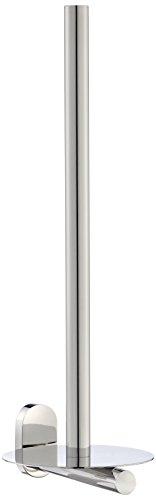 Kela 22721, Toilettenpapierhalter, Zum Kleben oder Bohren, 3 Rollen, Edelstahl 18/10, Lucido, 38cm, Silber Glänzend