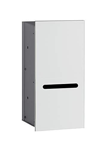 Emco Asis 2.0 Unterputz Toilettenpapierhalter, Front optiwhite, Einbauschrank, Rahmenlos, Türanschlag Links – 972427422