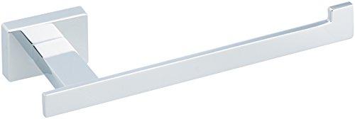 AmazonBasics - Euro-Toilettenpapierhalter, Chrom poliert