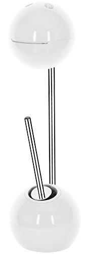 """Spirella WC Bürste Rollenhalter """"Freestyler"""" WC Garnitur 19,5x70cm Weiß"""