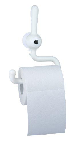 koziol Toilettenpapierhalter  Toq,  Kunststoff, solid weiß, 5 x 14,4 x 19,2 cm