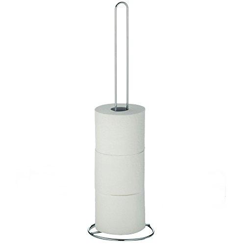 kela 18946 WC-Papierhalter Karat aus Kunststoff in Silber, Plastik, 16 x 16 x 56,5 cm