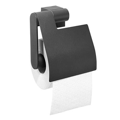 Tiger Nomad Toilettenpapierhalter mit Deckel, Edelstahl pulverbeschichtet, schwarz