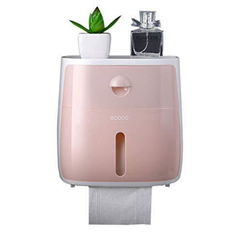 Hihey Toilettenpapierhalter Doppelschicht Lagerregal Pumpen Toilettenpapier Box Hand Karton Toilette Tissue Box Punch Free