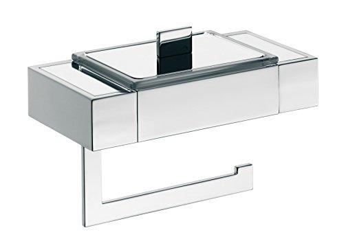 Emco 170000101 Papierhalter/Feuchtpapierbox Liaison, verchromt