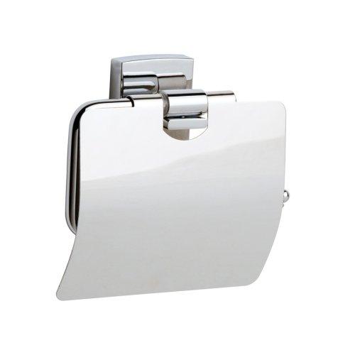 Nie Wieder Bohren klaam Toilettenpapierhalter, Chrom, inkl. Klebelösung, garantiert rostfrei, 125mm x 140mm x 53mm