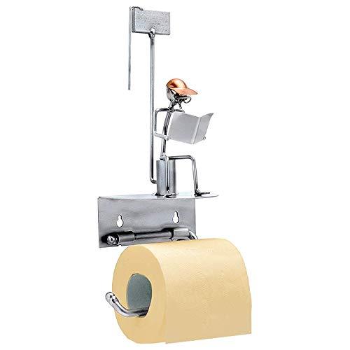 """Boystoys HK Design - Toilettenpapierhalter """"Klomann"""" Metall Art Klopapierhalter - Original Schraubenmännchen Wired Kollektion - handgefertigte Geschenkidee"""