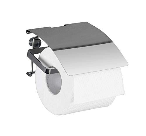 Wenko 22789100 Toilettenpapierhalter Premium - Rollenhalter, Edelstahl rostfrei, 12,5 x 9 x 13 cm, glänzend