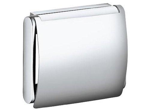 Keuco 14960170000 Toilettenpapierhalter Plan mit Deckel, silber-eloxiert