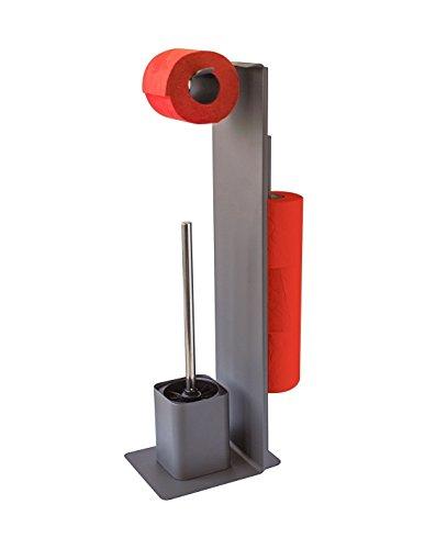 Gelco Wilson WC-Garnitur, Metall, carbon matt, 9,5x 16x 61cm