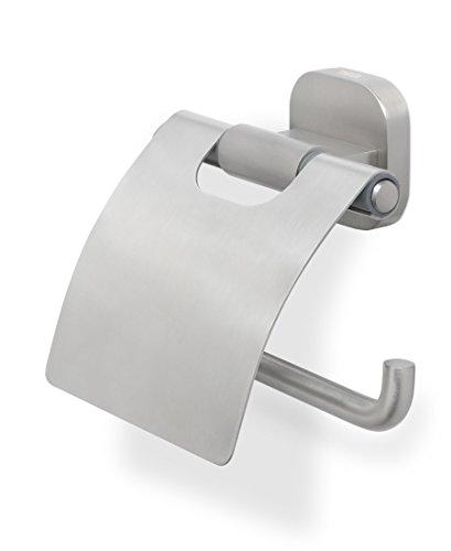 Tiger Ramos Toilettenpapierhalter mit Deckel, Edelstahl gebürstet