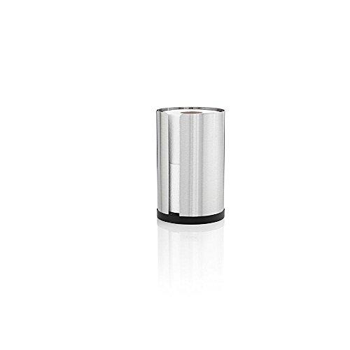 Blomus Nexio, Fuß Edelstahl–Halterungen für Bad WC Rolle (137mm, 137mm, 220mm