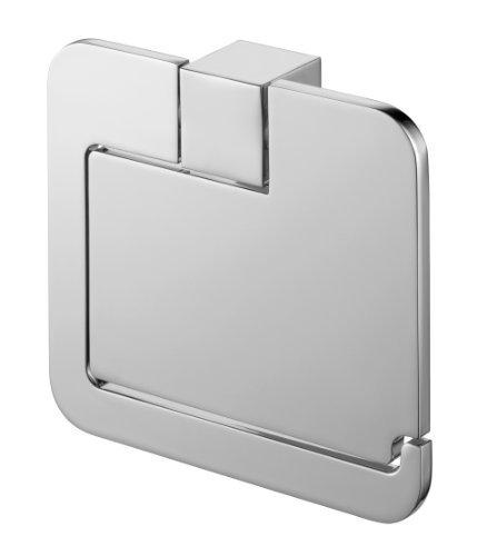 Bisk 02991 Futura Toilettenpapierhalter mit Abdeckung, 13,3x3x12cm, Silberfarben