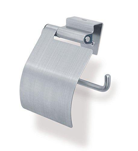 Tiger Zapp Toilettenpapierhalter mit Deckel, Edelstahl gebürstet