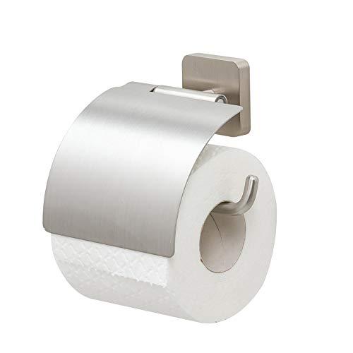 Tiger Onu Toilettenpapierhalter mit Deckel, Edelstahl gebürstet, 13 x 12,6 x 4,2 cm