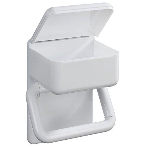 WENKO Duo-PapierhalterToilettenpapier Badezimmer Feuchttücher Hygiene Wandhalterung Toilettenpapierhalter WC Badaccessoires Rollenhalter Klopapier Toilettenpapierspender