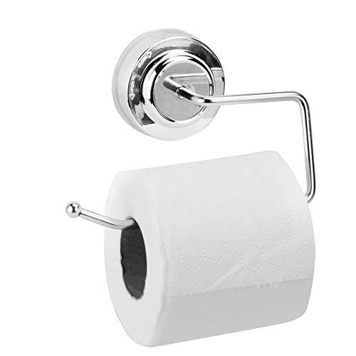 Saugnapf Toilettenpapierrollenhalter | Kein Bohren Toilettenpapierhalter | Saugpapierrollenhaken | Chrom Badzubehör | M&W