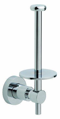 Nie Wieder Bohren Loxx Ersatz-Toilettenpapierhalter, hochglanzverchromt, inkl. Klebelösung, hohe Haltekraft (bis 6kg), 185mm x 65mm x 92mm