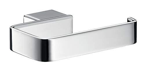Emco Loft Toilettenpapierhalter, chrom, Klopapierhalter, ohne Deckel, Rollenhalter, Papierhalter, Wandmontage - 50000101