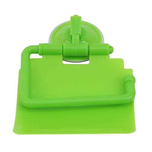 HYhy Saugnapf Toilettenpapierhalter e Wand Bad Tissue Storage Stand mit e Schallwand für Home Hotelgebrauch, Grün