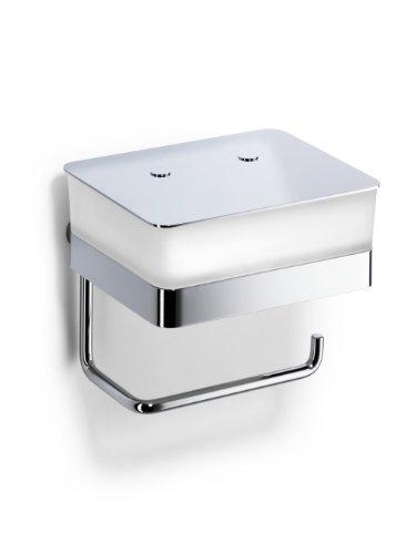 Giese 31770-02 WC-Duo Glasbehälter für Feuchtpapier mit Papierhalter, Wandmodell, verchromt