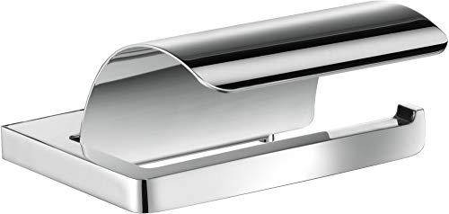 Keuco Toilettenpapierhalter Moll (mit Deckel, für Rollenbreite 100 mm, Farbe chrom, gerundete Kanten) 12760010000