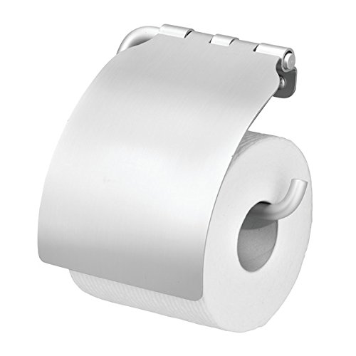 MetroDecor mDesign Toilettenpapierhalter wandmontiert - Klorollenhalter fürs Badezimmer - Papierrollenhalter zum an die Wand hängen