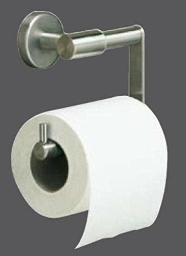 Tiger Boston ToilettenPapierhalter ohne D, Edelstahl Look matt gebürstet 108 x 137 x 63 mm, 309030900, 3090.3.09.00