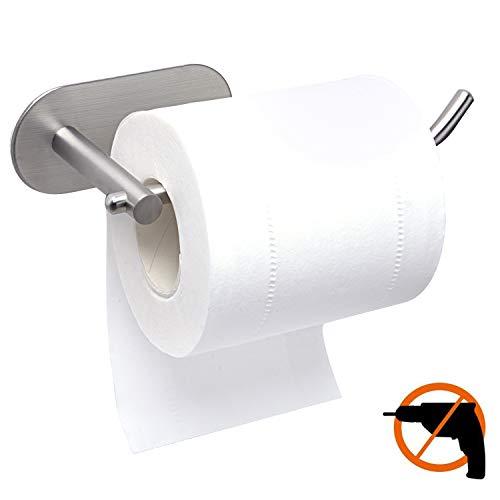 Toilettenpapierhalter Ohne Bohren, 304 Edelstahl,Selbstklebender 3M-Kleber, Es Besteht Keine Sturzgefahr (Klein)