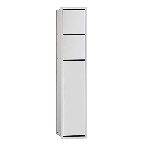 Emco 978305052 Unterputz WC Modul Public Asis 150 aluminium, Türanschlag rechts, 809 mm