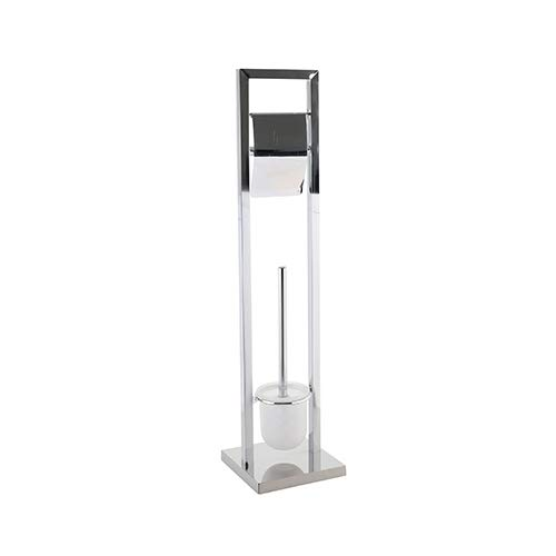 Ribelli Toilettenpapierhalter freihstehend mit Klobürste WC Garnitur Rollenhalter Papierhalter Toilettenbürste Ständer Verschiedene Ausführungen (Garnitur 9)