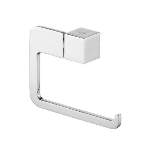 Bisk 02990 Futura Toilettenpapierhalter ohne Abdeckung, 13,5x3x9,5cm, Silberfarben