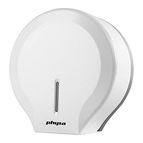 Physa FOGGIA WHITE Toilettenpapierspender Toilettenpapierhalter (für Jumbo-Rollen, max. Ø 260mm, inkl. Schlüssel, ABS) Weiß