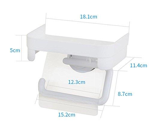 Paste mit Wand Aluminium Toilettenpapierhalter