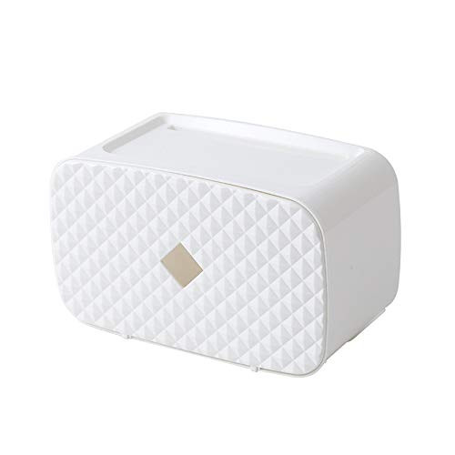 TianranRT NEU Küche Kunststoff Wandhalterung Papier Handtuch Halter toilettenpapierhalter (Weiß)