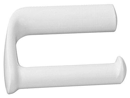 Bisk Athena Toilettenpapierhalter Ohne Abdeckung, Kunststoff, weiß, 14,5x 8x 9cm