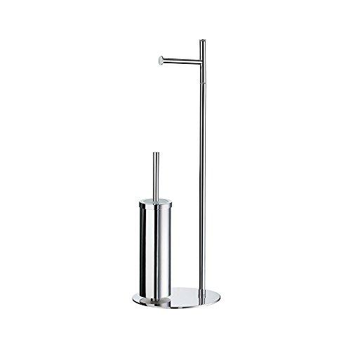 Bürstengarnitur / Standmodell Toilettenpapierhalter / WC-Bürste / FK308 / Outline / Smedbo / Papierrollenhalter / Bad Accessoires / Badezimmer