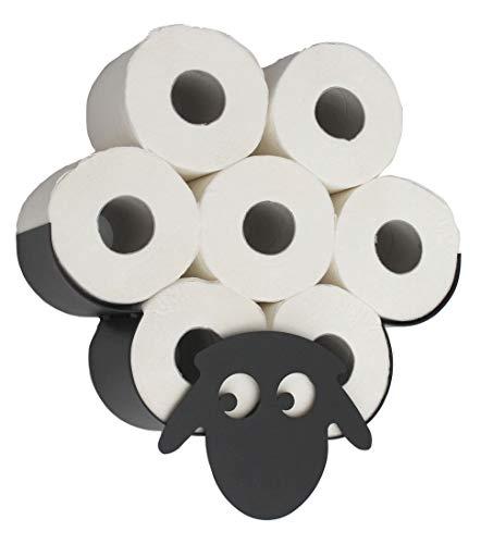 DanDiBo Toilettenpapierhalter Schaf Wand Schwarz Metall Toilettenrollenhalter WC Rollenhalter Ersatzrollenhalter Klopapierhalter