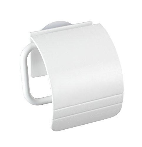 Wenko 22267100 Toilettenpapierhalter PVC 15 x 5 x 14 cm, Weiß