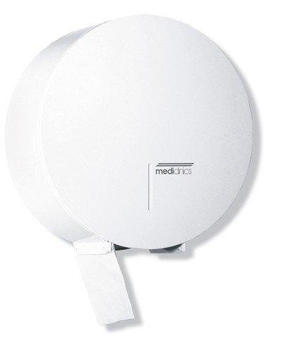 Mediclinics PR0789 - Abschließbarer Toilettenpapierspender Rund Für 3 Rollen, Farbe:Weiß