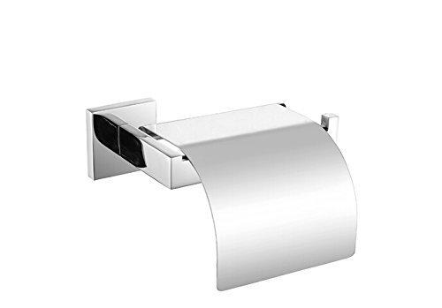 KES Toilettenpapierhalter mit Deckel aus rostfreiem Edelstahl zur Wandmontage, Poliert, A2571