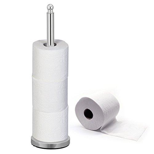 Tatkraft IDEAL | Toilettenpapierhalter, Klopapierrollenhalter | Ersatzrollenhalter Chrom Für 4 Rollen | Stabil Und Rostresistent | Maße: 15x51 cm
