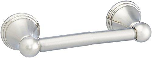 AmazonBasics - Moderner Standard-Toilettenpapierhalter - Nickel matt