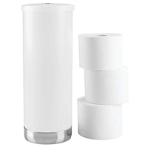 InterDesign Aria Ersatzrollenhalter mit Deckel, Kunststoff, durchsichtig