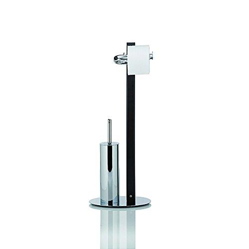 Kela 20813, WC-Bürstenbehälter und Papierhalterung, Toilettengarnitur, Holz/Edelstahl, Antares, 71cm, Walnuss