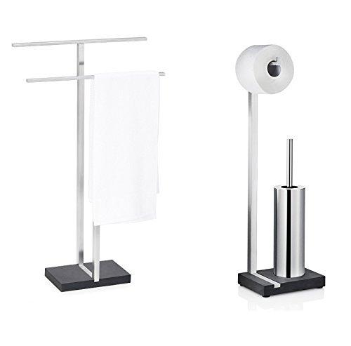 Blomus Menoto Set Toilettenbutler und Handtuchständer Art. 68624 68819 Handtuchhalter