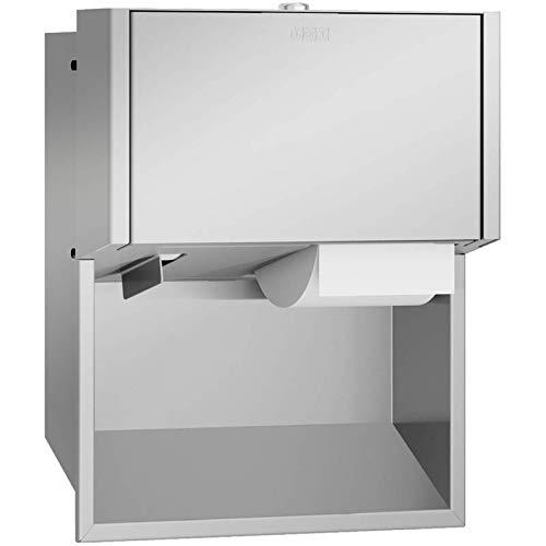 Franke Unterputz WC-Rollenhalter EXOS. für 2 Rollen in 3 Verschiedenen Varianten erhältlich, Variante:Front Edelstahl seidenmatt