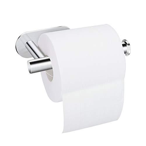 Toilettenpapierhalter ohne Bohren, Telgoner Toilettenpapierhalter selbstklebend SUS304 Edelstahl Toilettenpapierhalter Wandhalter WC-Papierhalter für Bad und Küche