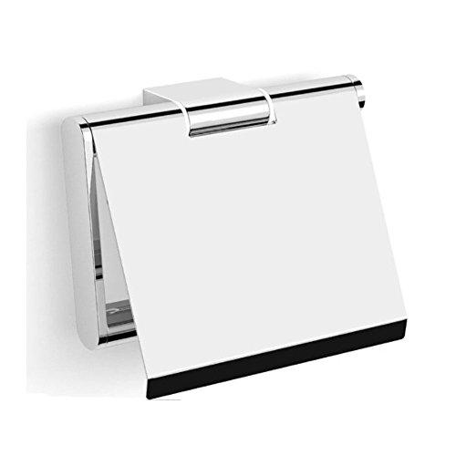 Korpusbad® Design Toilettenpapierhalter AC102 | edel verchromt | Form: viereckig | verdeckte Verschraubung | Montagematerial enthalten