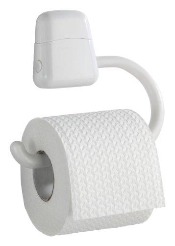 WENKO 19901100 Toilettenpapierhalter Pure, Kunststoff - ABS, 17.5 x 15.5 x 3 cm, Weiß
